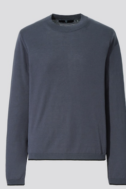 Uniqlo +J Silk-Cotton Crew Neck Long-Sleeve Sweater