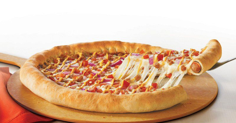 Image Result For Pizza Hut Dog Crust Pizza