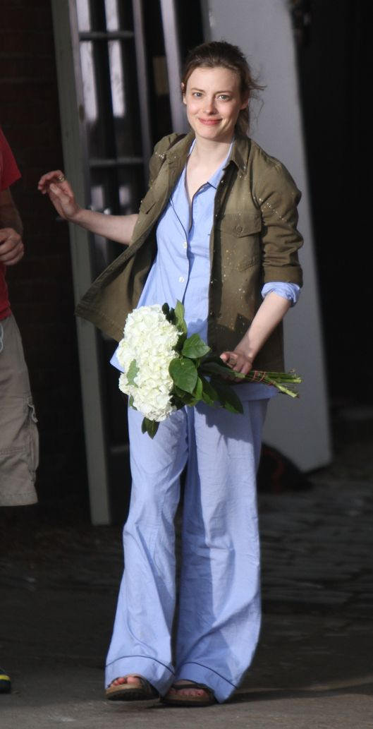 "Adam Driver seen giving flowers and a kiss to Gillian Jacobs as they film a scene on the set of the HBO series ""Girls"" in Bushwick, Brooklyn.<P>Pictured: Gillian Jacobs<P><B>Ref: SPL774558  040614  </B><BR/>Picture by: Jose Perez / Splash News<BR/></P><P><B>Splash News and Pictures</B><BR/>Los Angeles:	310-821-2666<BR/>New York:	212-619-2666<BR/>London:	870-934-2666<BR/>photodesk@splashnews.com<BR/></P>"