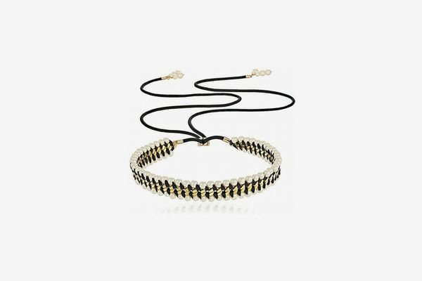 Kate Spade New York Wrap It Up Faux Pearl Slider Necklace