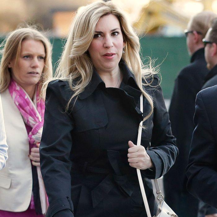 Boston Marathon bombing survivor Heather Abbott arrives at federal court, Thursday, April 23, 2015, in Boston. The trial for convicted Boston Marathon bomber Dzhokhar Tsarnaev is in the penalty phase. (AP Photo/Steven Senne)