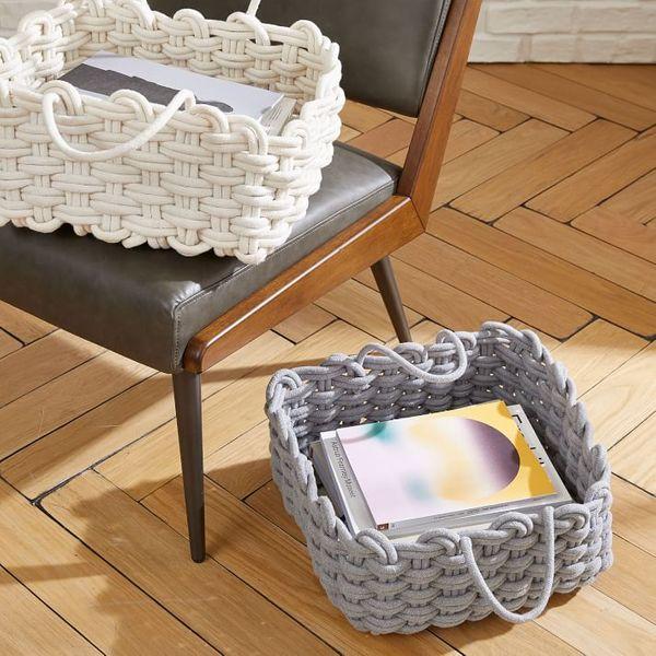 West Elm Rope Weave Harvest Baskets