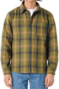 A.P.C. Surchemise Trek Plaid Straight Fit Button Down Shirt