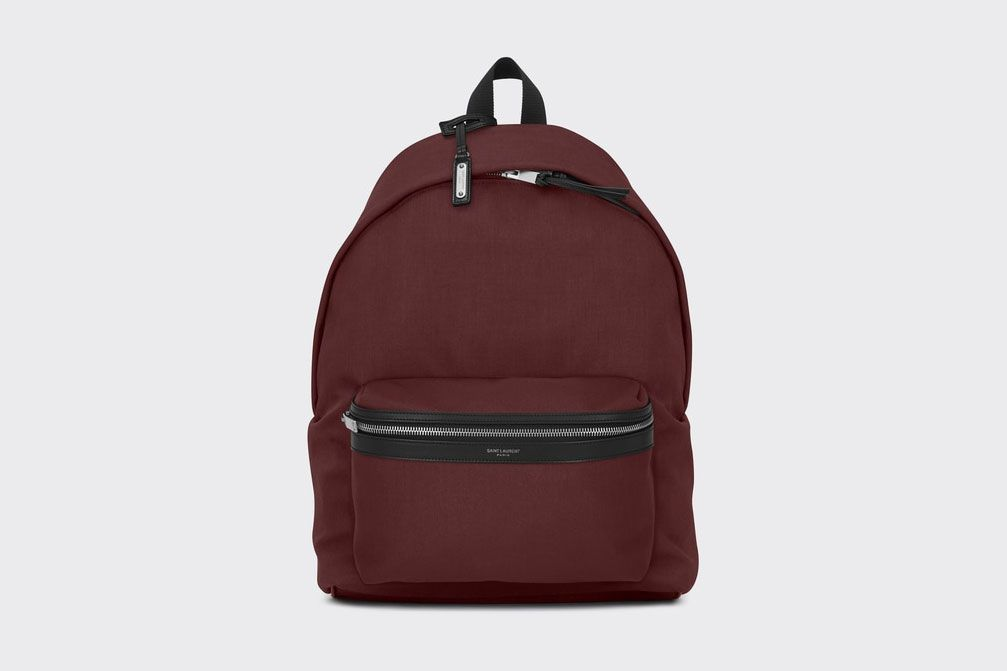 City Backpack Dark Red Nylon Canvas