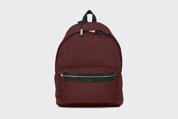 City Backpack Dark Red Nylon Canvas