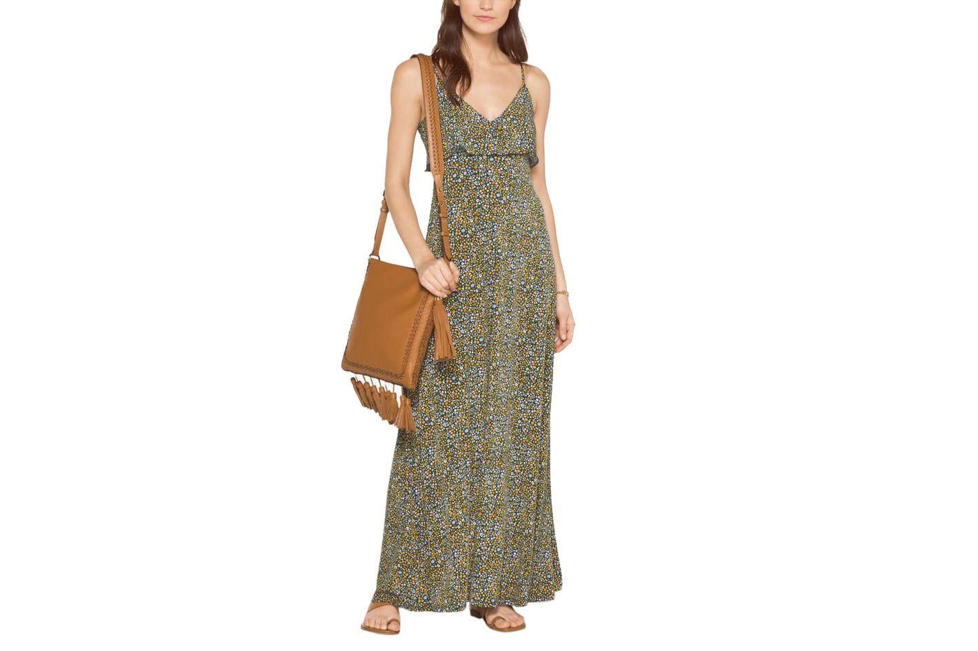 Michael Kors Floral Matte-Jersey Maxi Dress