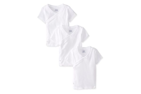 Gerber Unisex Short-Sleeve Shirts With Side Snaps, 3-Pack