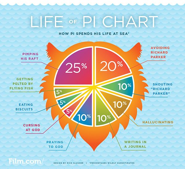 Read A Life Of Pi Pie Chart