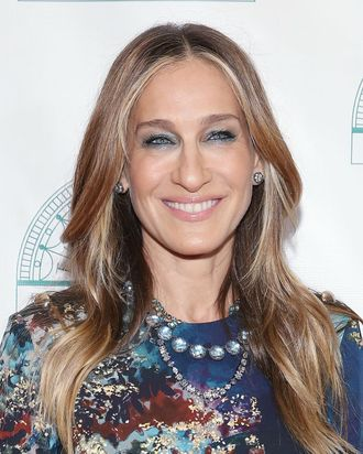Sarah Jessica Parker not getting carried away.