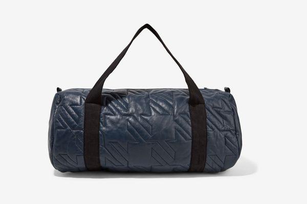 Maje Metallic Quilted Leather Shoulder Bag