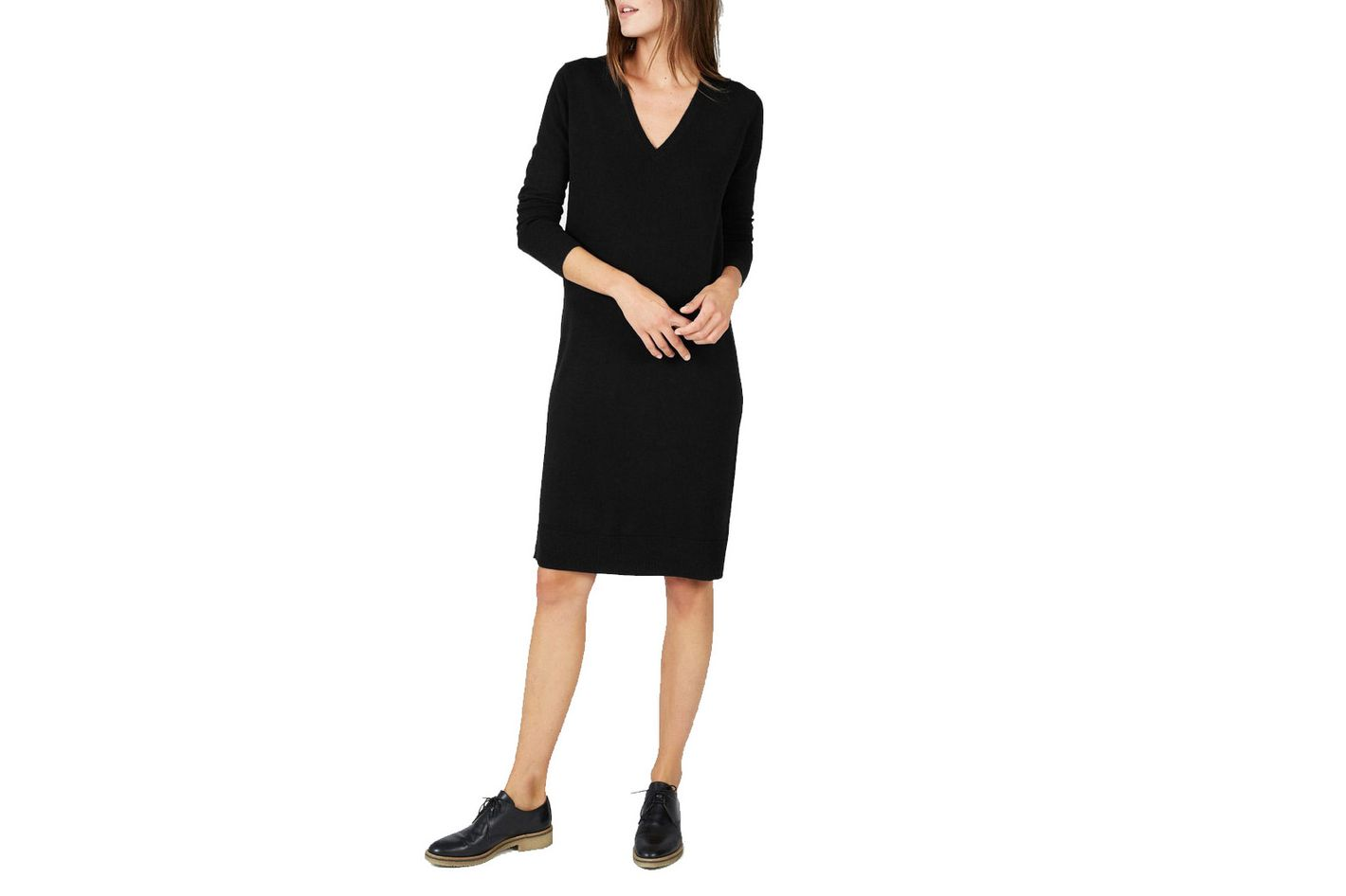 Everlane The Cashmere V-neck midi-dress
