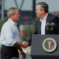 George W. and Jeb Bush.