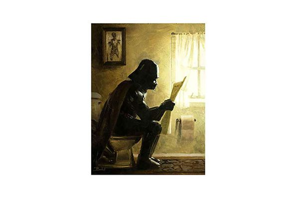"""Taking a Sith"" Bathroom Art"