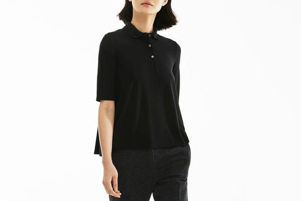 Lacoste Women's Pleated Back Petit Piqué Polo
