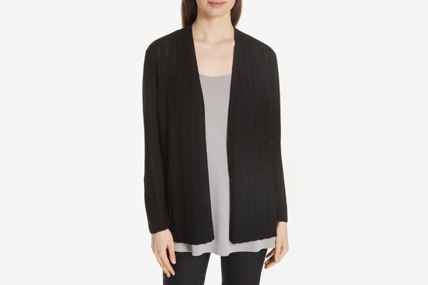Eileen Fisher Bell Cuff Silk Blend Cardigan
