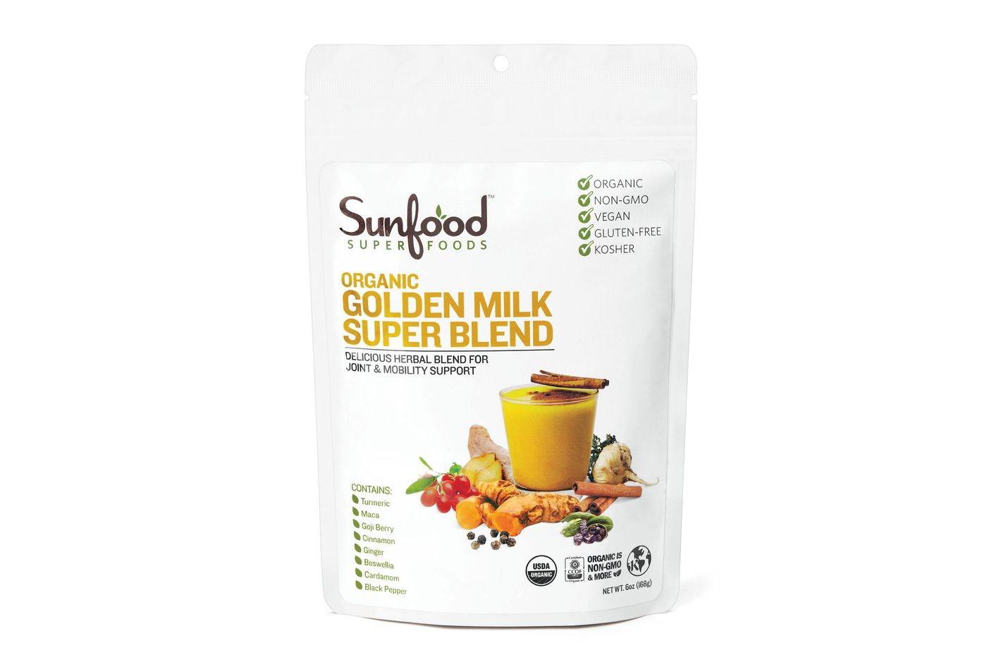 Sun Food Super Foods Organic Golden Milk Super Blend