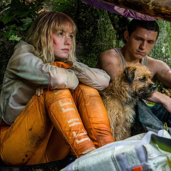 Daisy Ridley and Tom Holland in Chaos Walking.