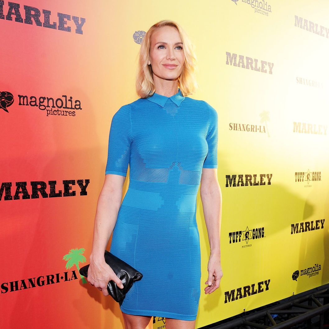 "Kelly Lynch arrives for the premiere of Magnolia Picture's ""Marley"" at ArcLight Hollywood on April 17, 2012 in Hollywood, California."