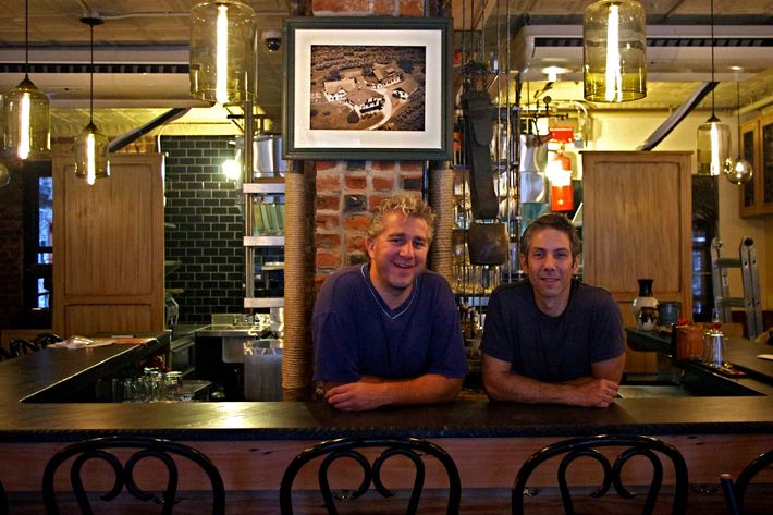 Erwin Schrottner and Andrew Chase, at their new bar.