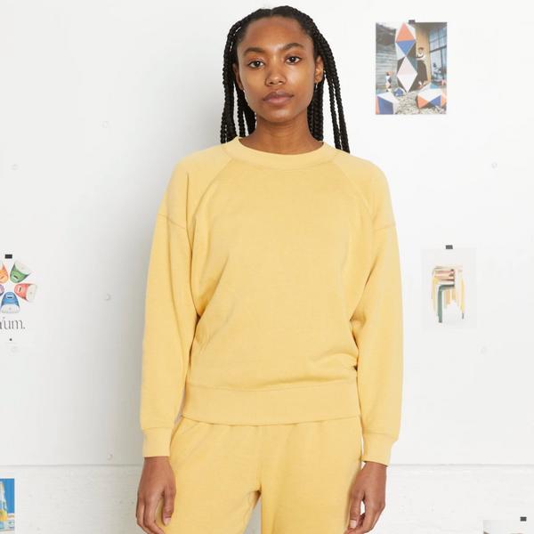 Entireworld Loop Back Sweatshirt Mimosa Yellow