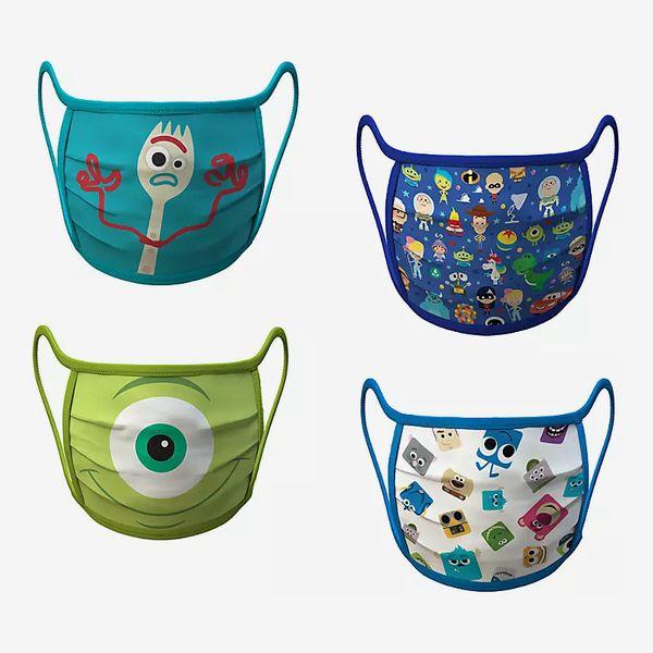 PIXAR Cloth Face Masks size small 4-Pack Set
