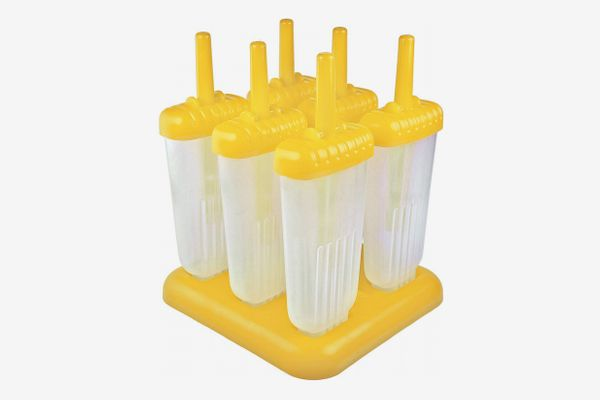 Tovolo Groovy Ice Pop Molds, Drip-Guard Handle