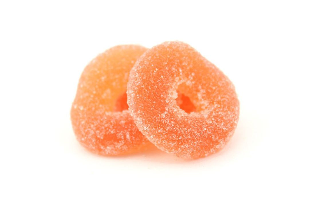 Organic Peach Rings, 1-Pound Bag