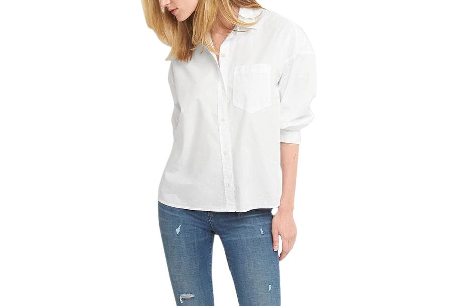 c32a7a6ba best white button down shirts for women. Poplin Oversize Cocoon Shirt. ""