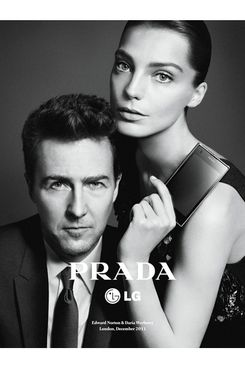 Edward Norton and Daria Werbowy for Prada.