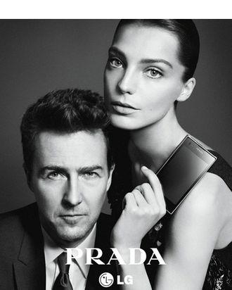 Edward Norton and Daria Werbowy for Prada.