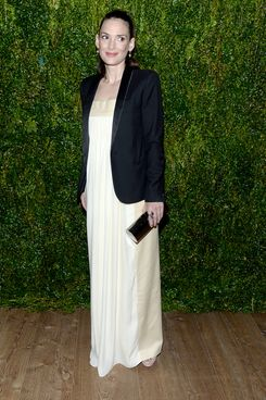 "Winona Ryder== Vogue & The Cinema Society host a screening of ""Turks and Caicos""== Crosby Street Hotel, NYC== April 7, 2014== ? Patrick McMullan== Photo - Clint Spaulding/PatrickMcMullan.com== =="