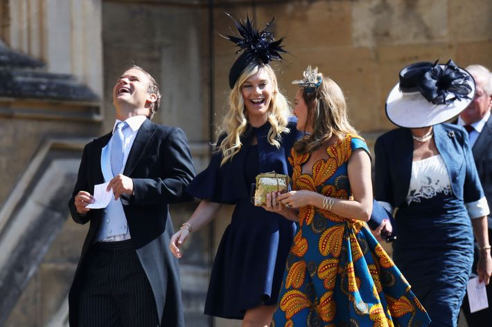 Chelsy Davy in the middle (in navy).