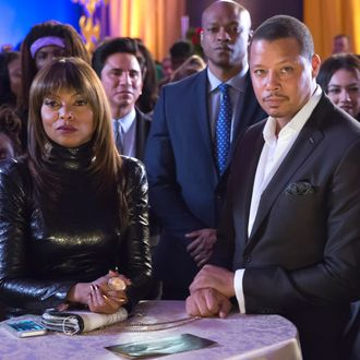 """EMPIRE: L-R: Taraji P. Henson and Terrence Howard in the """"Et Tu, Brute?"""" episode of EMPIRE airing Wednesday, Dec. 2 (9:00-10:00 PM ET/PT) on FOX. ©2015 Fox Broadcasting Co. Cr: Chuck Hodes/FOX."""