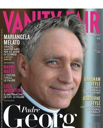 Gorgeous George's Italian Vanity Fair cover.