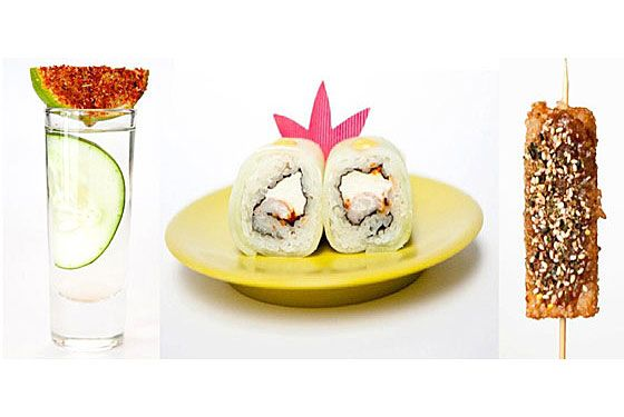 "<a href=""http://www.takataka.mx/"">Taka Taka</a><br><i>330 West Broadway at Grand St.; 212-966-8252</i><br><br>Look, we have no idea whether Taka Taka — which combines conveyor-belt sushi with Mexican flavors in dishes like tempura  shrimp with jalapeño, Manchego cheese, and chipotle sauce — is really  going to be any good. But at least it's something <em>different</em>.  And in a city that's been saturated with pasta and burger shacks over  the last few years, there's something to be said for that. Besides, you  can always wash down the crazy-sounding food with tequila, and that's  never a bad thing.  ​"