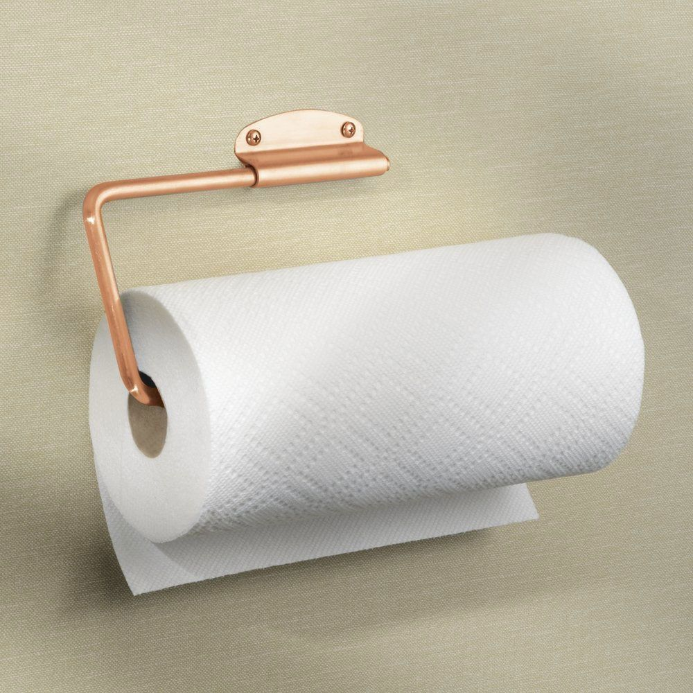 Interdesign Forma Swivel Paper Towel Holder For Kitchen Wall Mount Under Cabinet Copper