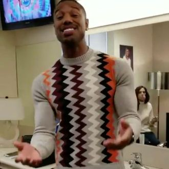 041c766bb645c1 Does Michael B. Jordan Have to Keep Buying Sweaters Because His Arms  Destroy Each One