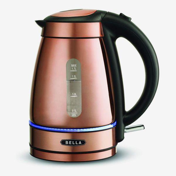 Bella Electric Tea Kettle, 1.7 Liter, Copper Chrome