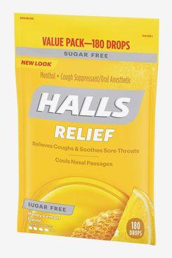Halls Sugar Free Cough Suppressant, Honey-Lemon