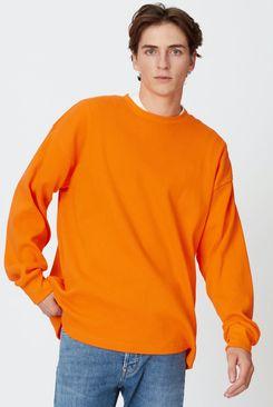 Yellow Label Co. The Long-Sleeve Waffle, Orange