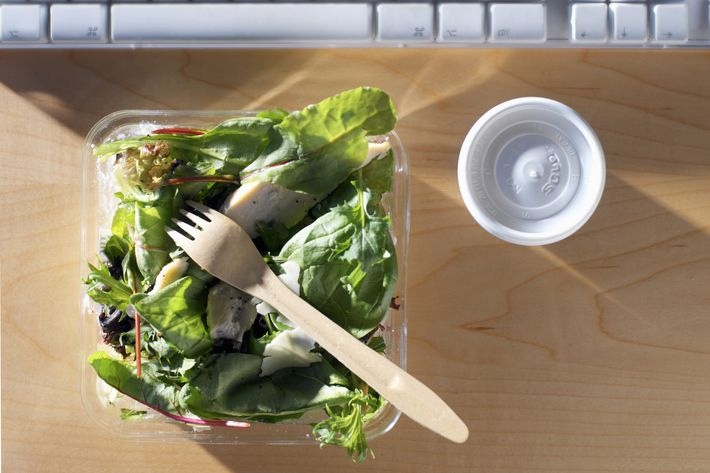 Can a woman be a boss if she eats Chipotle at work?