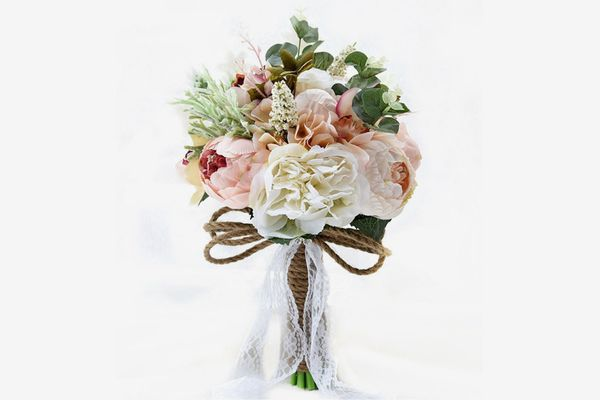 Satin and Rhinestone Wedding Bouquet