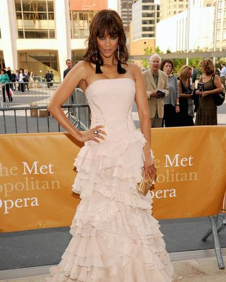 Tyra in Cavalli at last night's opera.