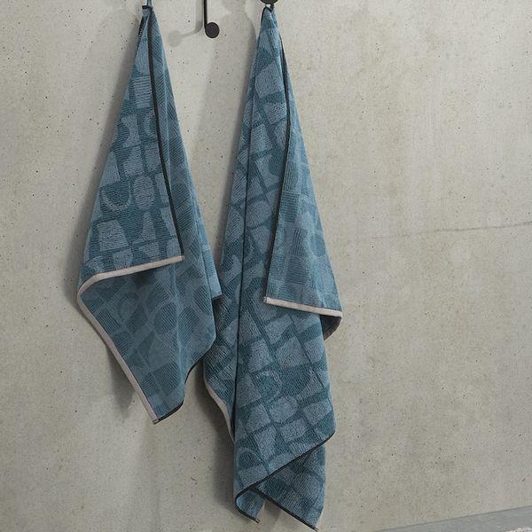 Olga 100% Cotton Set of 2 Bath Sheets, Aegean Blue