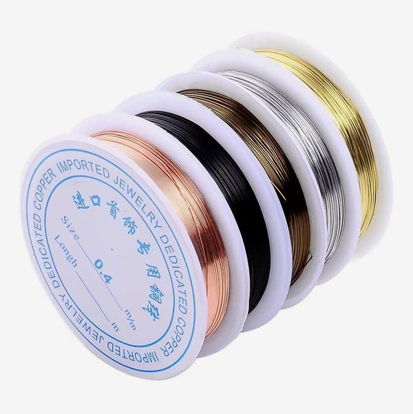 Uncoated Copper Wire Rolls, Pack of 5