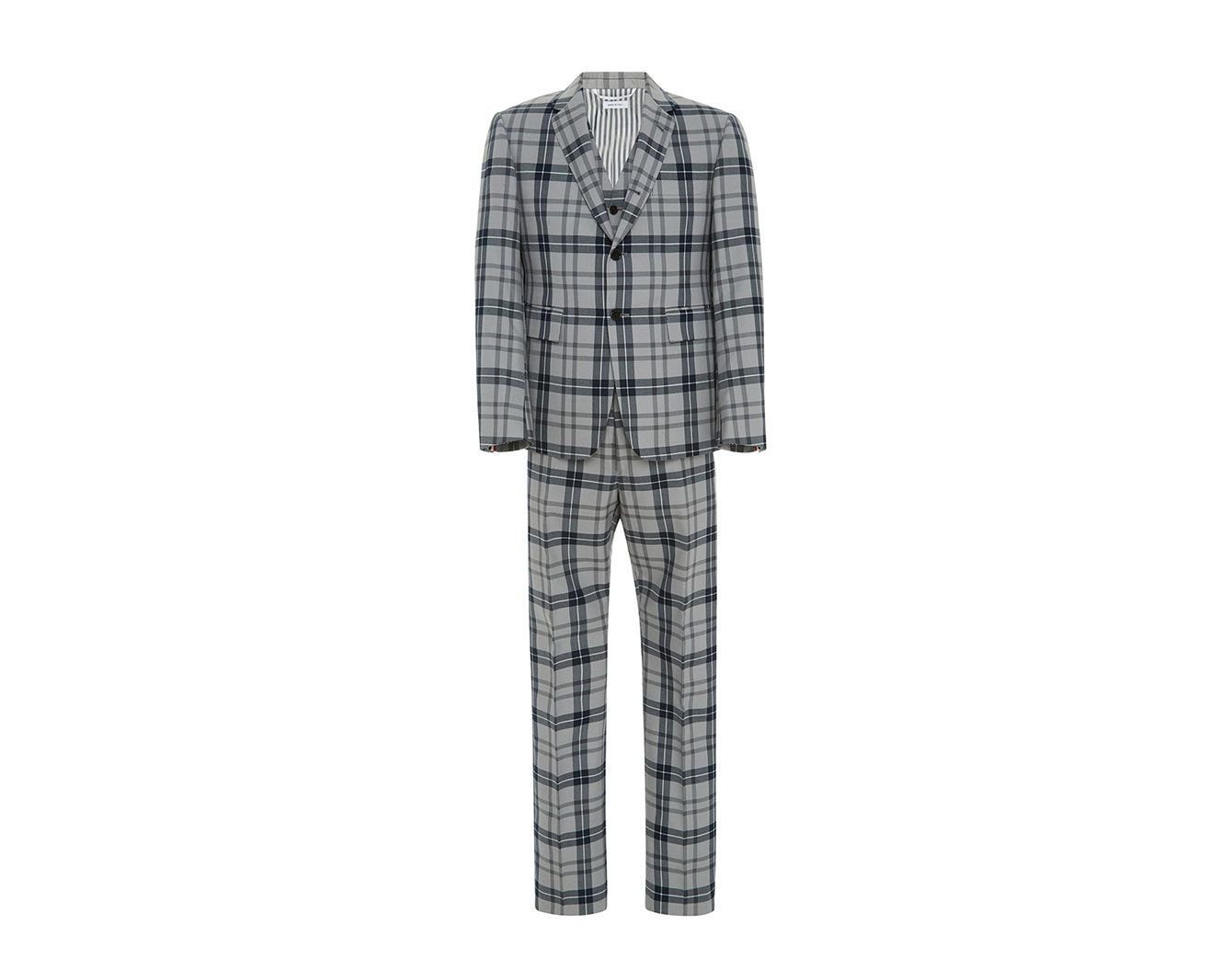 Thom Browne Tartan Wool-Blend Three-Piece Suit