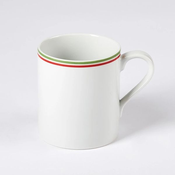 Canteen Stripe Mug Green & Red