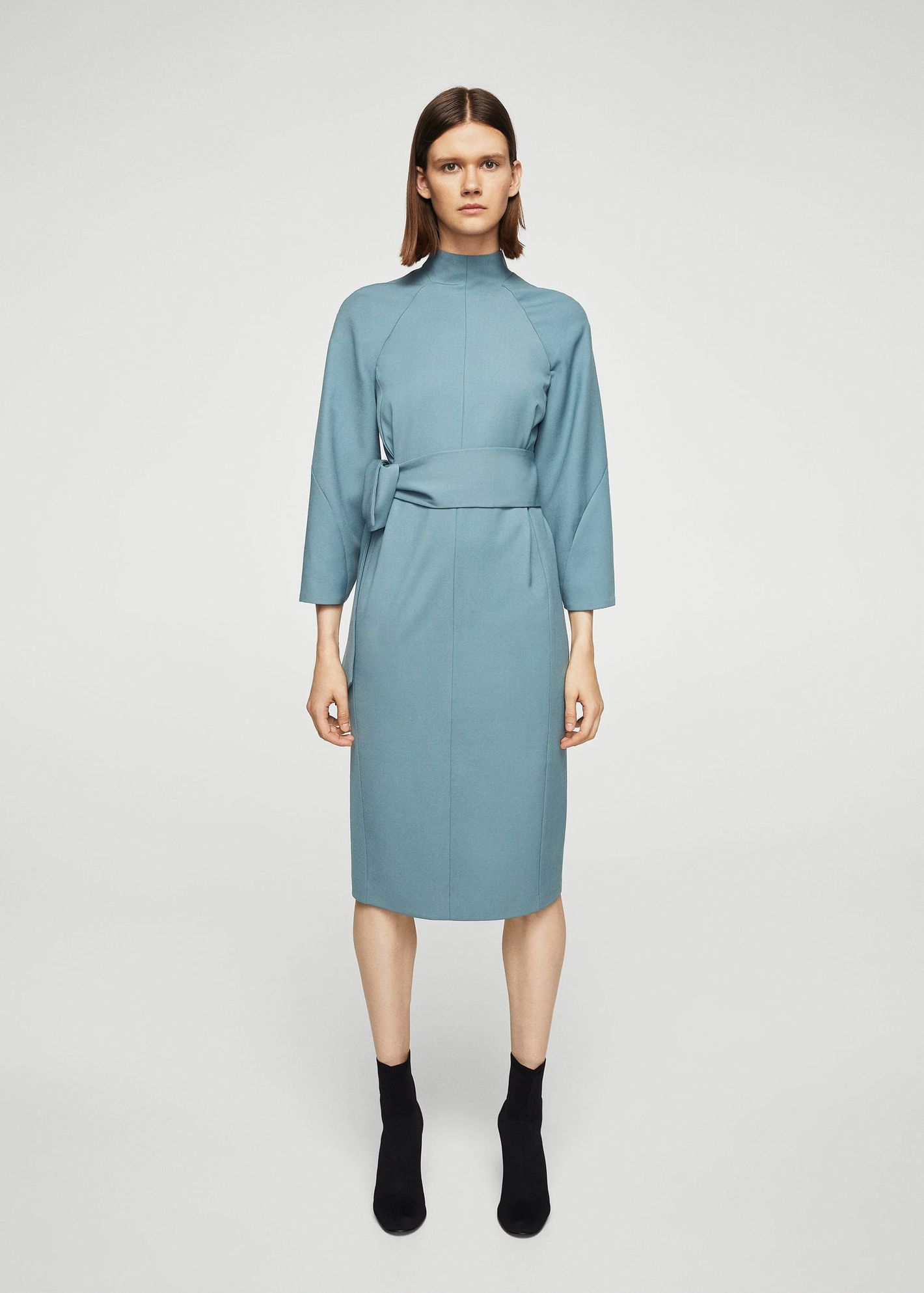 Mango Knot Wool-Blend Dress