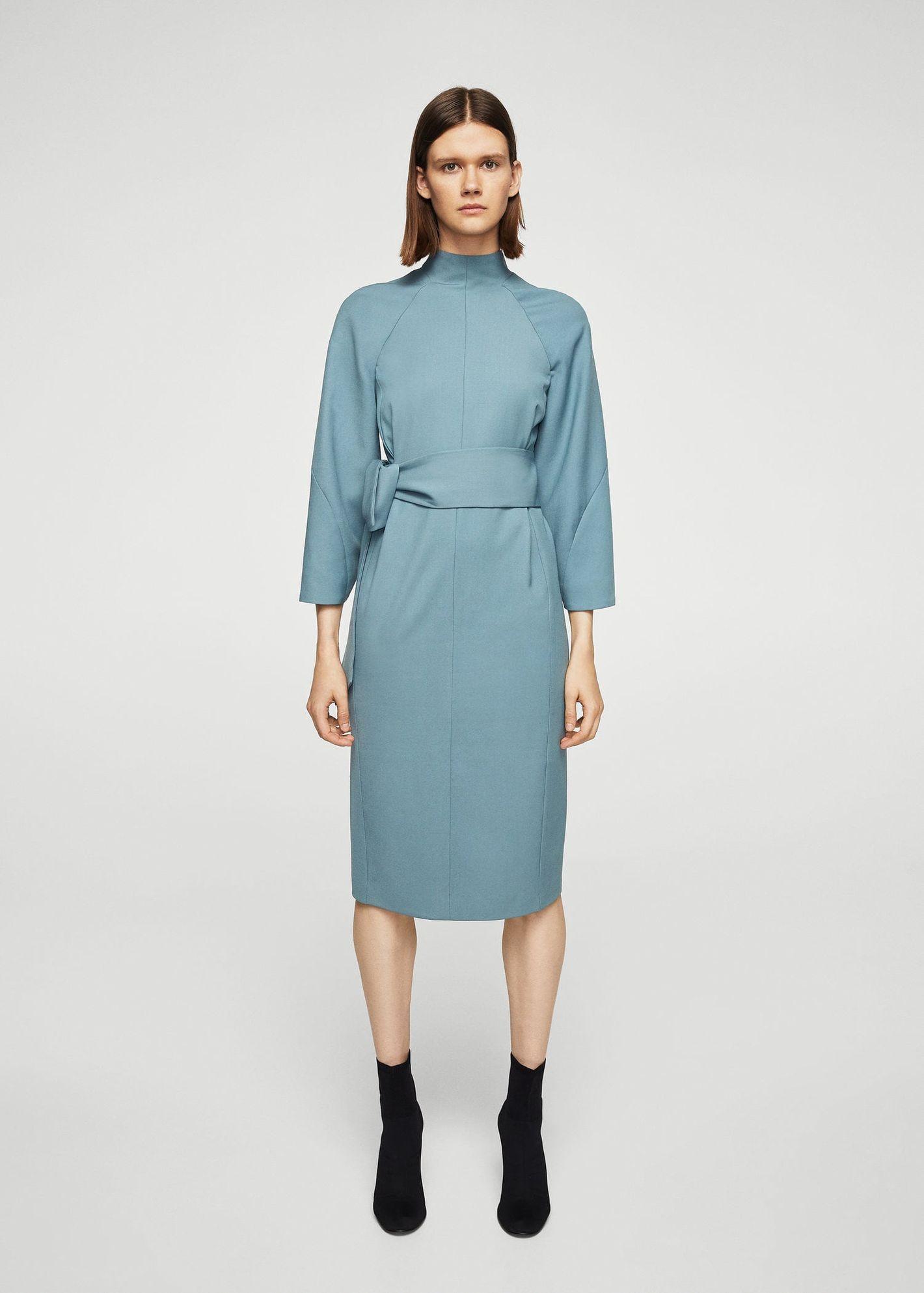 Mango Knot Wool-Blend Dress