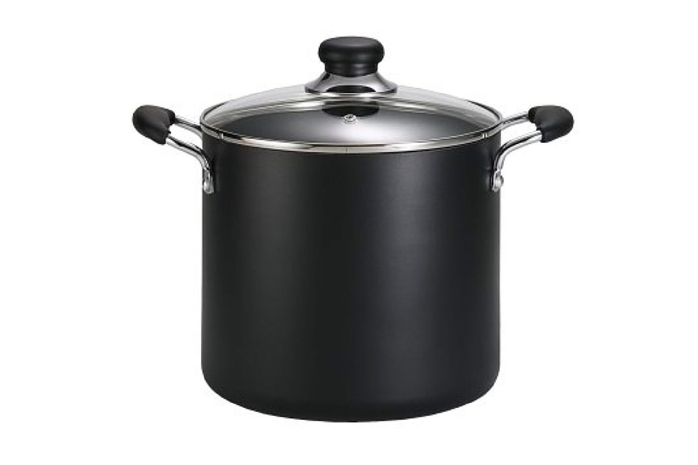 T-fal A92279 Specialty Total Nonstick Dishwasher Safe Oven Safe Stockpot Cookware, 8-Quart, Black